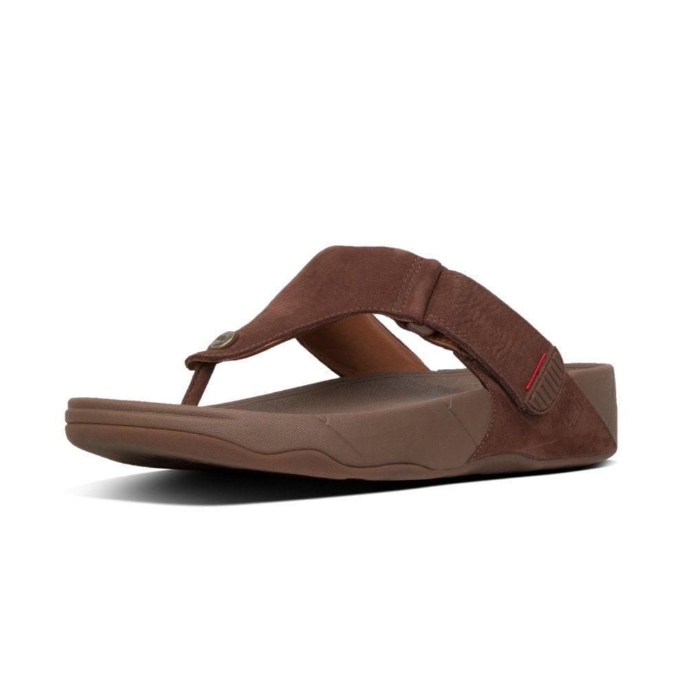 cbf1ea180 Trakk II Chocolate Brown Nubuck Mens Sandal