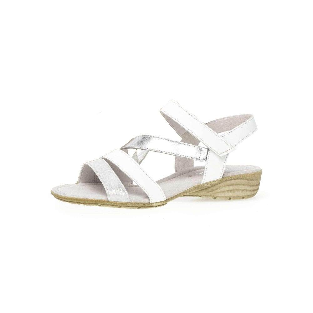945452ebdea8db Earl 24.551.61 White   Silver Leather Sandal