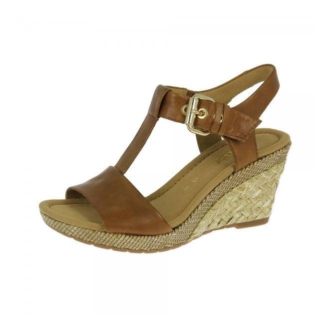 97ec388ee Karen 22.824.54 Tan Leather Wedge Sandal