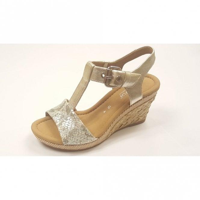 a19957ecb Karen 42.824.63 Silver Leather   Snake Print Wedge Sandal