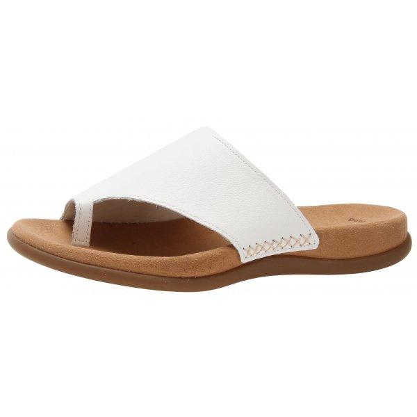 Gabor Lanzarote 03.700.21 White Leather Toe Post Sandal