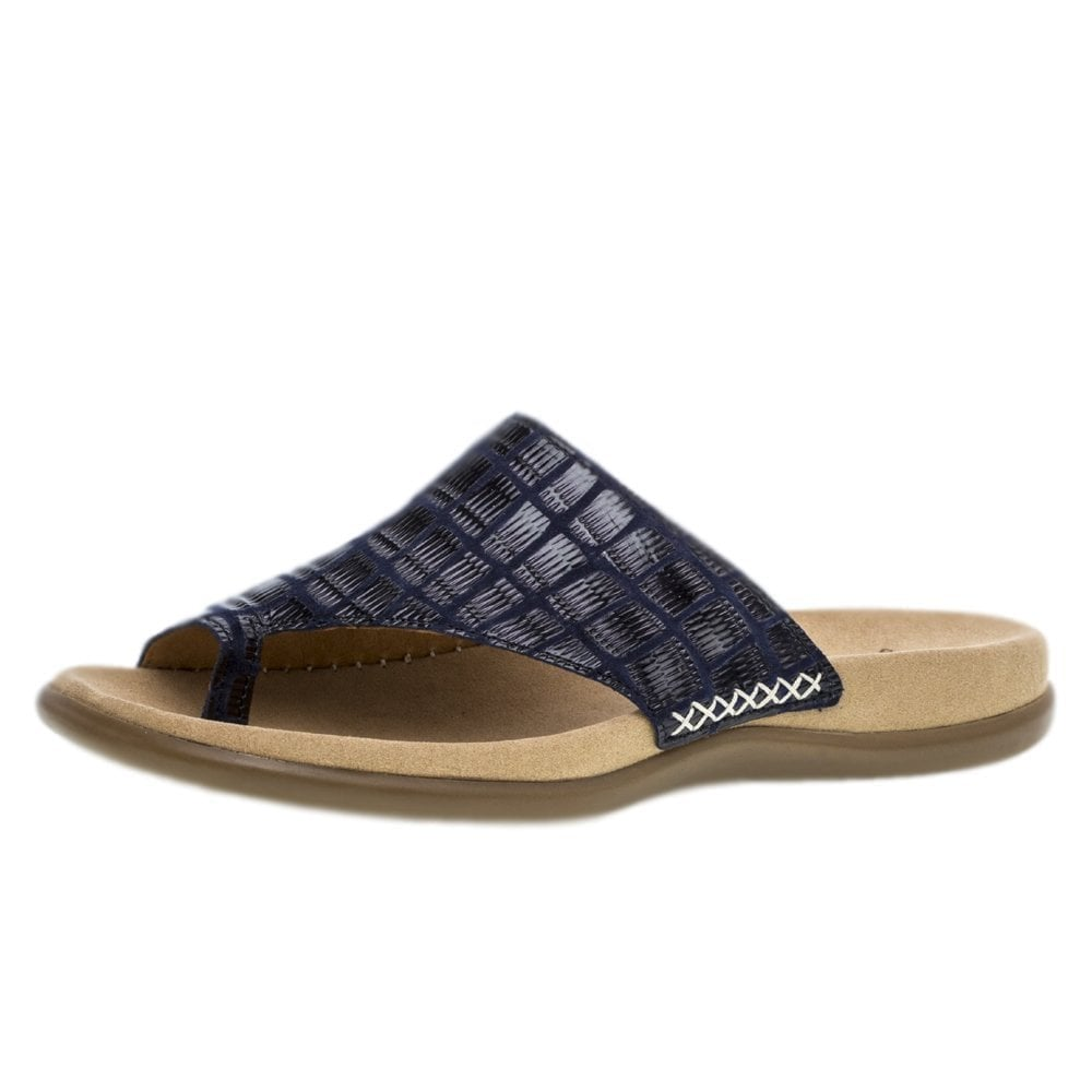 Sandal Leather Lanzarote Toe Navy Post 23 700 40 vN80wOmn