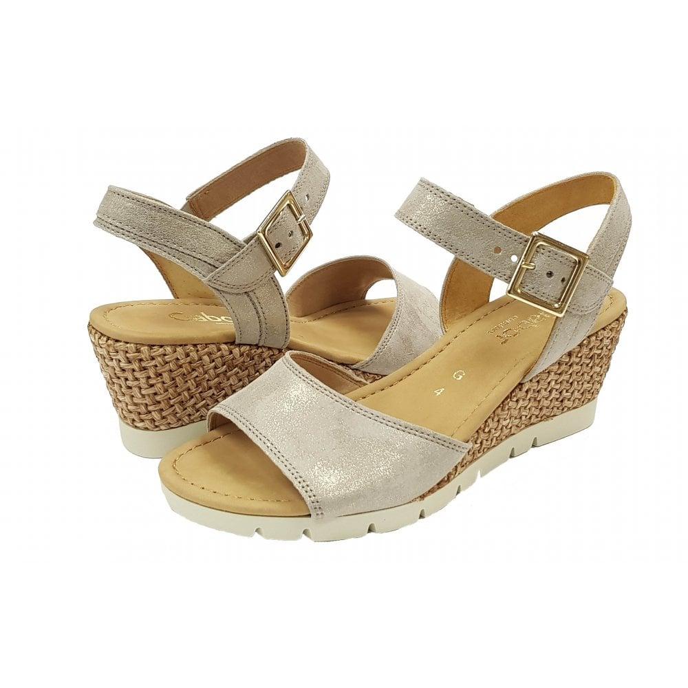 Gabor Nancy 22.841.54 Brown Leather Wedge Sandal