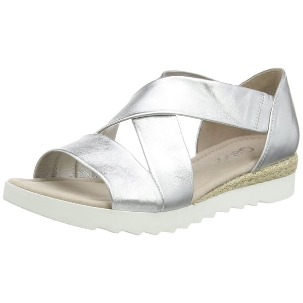 Promise 62 711 10 Silver Leather Wedge Sandal