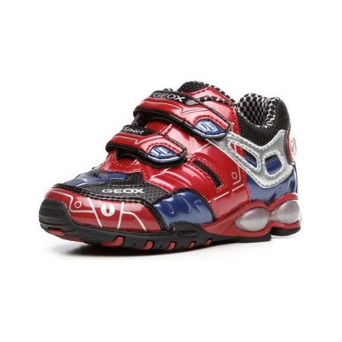 besondere Auswahl an hohes Ansehen großer Verkauf Geox Fighter 2 R Red Boys Trainer - Childrens from Crichton Shoes UK
