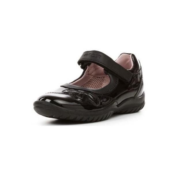 Modern und elegant in der Mode Luxus kaufen tolle Preise Geox J Shadow B Black Patent Girls Shoe - Childrens from Crichton ...