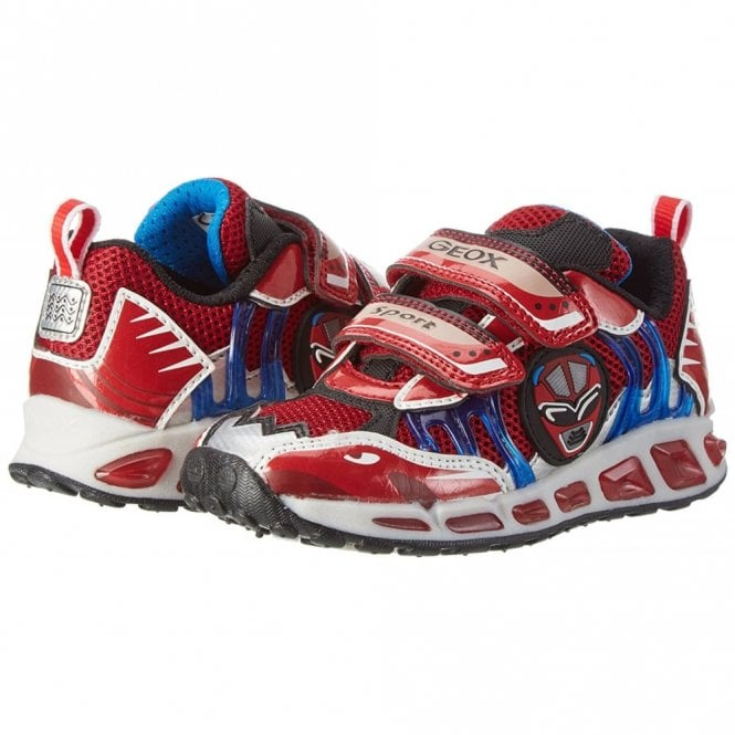GEOX J Shuttle Boy/'s Red//Royal Blue Trainers