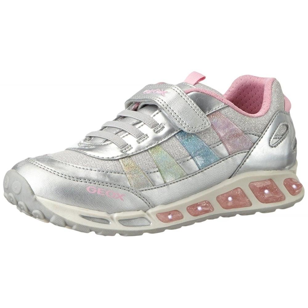 Fracaso Edredón Eliminación  J Shuttle G J5206C Silver / Pink Girls Trainer Shoe with Flashing Lights