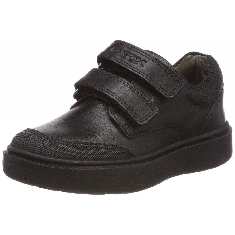 Riddock Black Leather Boys Velcro