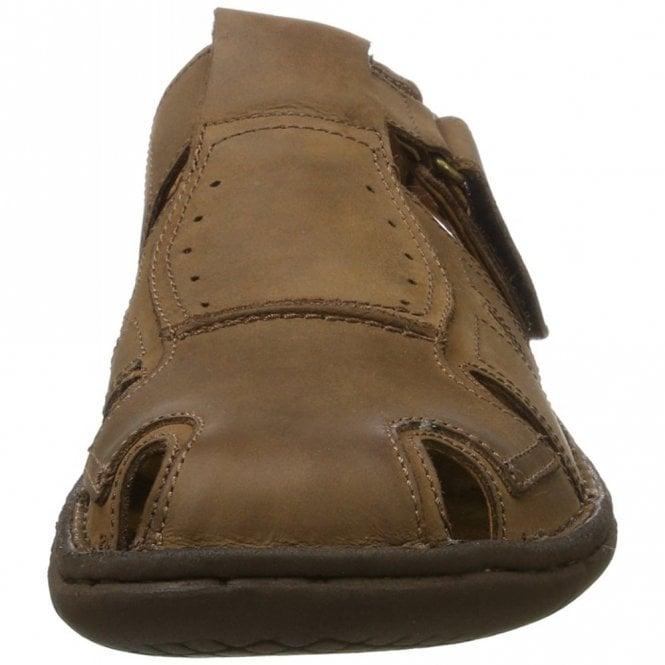 1e6533732416b Paul 15 Brown Leather Mens Velcro Sandal