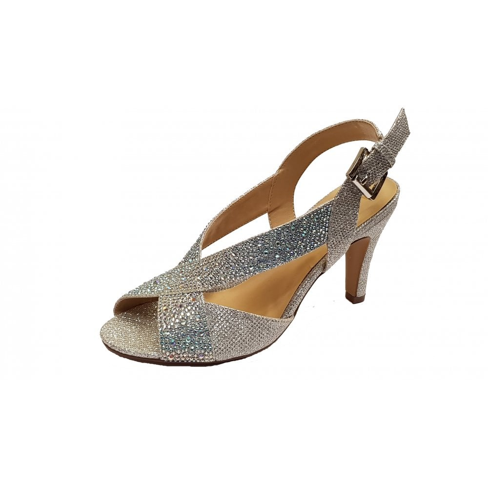 013adea6b042 Anya Silver Diamante Open-Toe Sling-Back Shoes