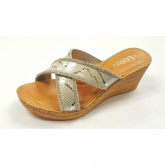 88872b3a3997a Arika Silver Snake Print Open-Toe Mule Sandals