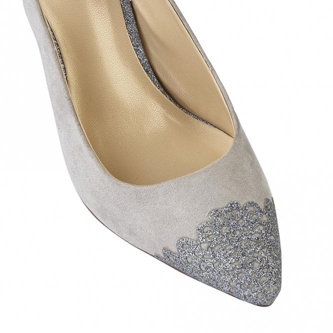 5fa488c15 Arlind Grey & Pewter Glitz Sling-Back Court Shoes
