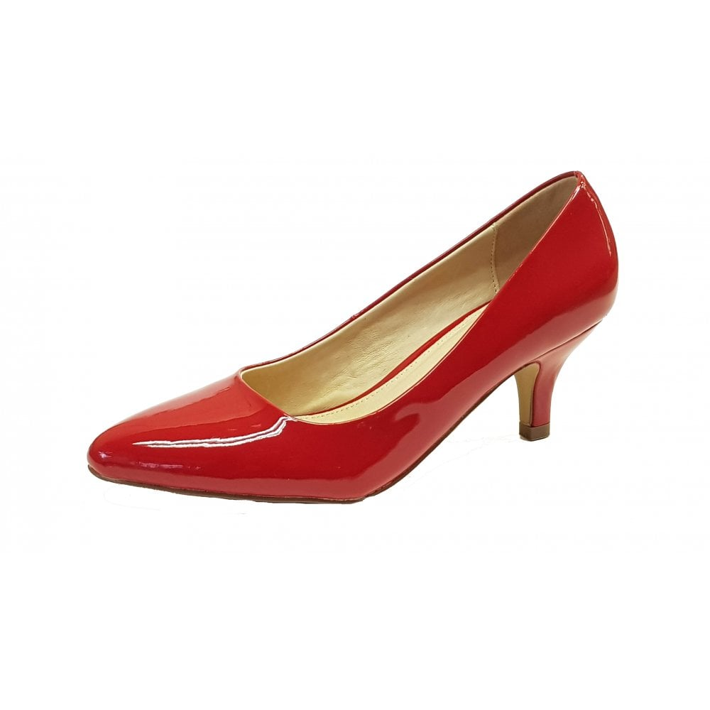 3698b5ed43a Bess Red Patent Court Shoe