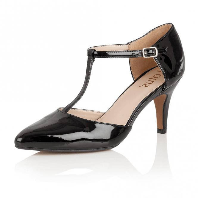 d2e9b9bf75490 Lotus Camomile Black Shiny T-Bar Shoes
