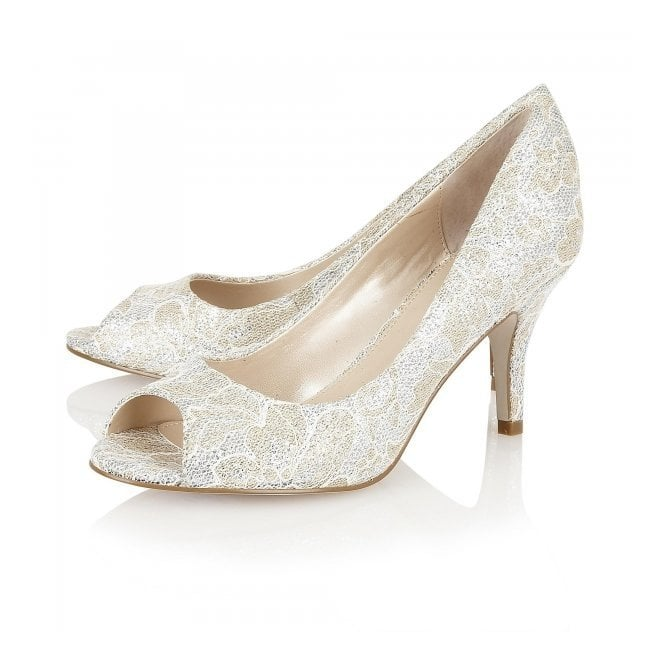 8d3aa7c0445 Eva Gold Printed Satin Open-Toe Style Shoes
