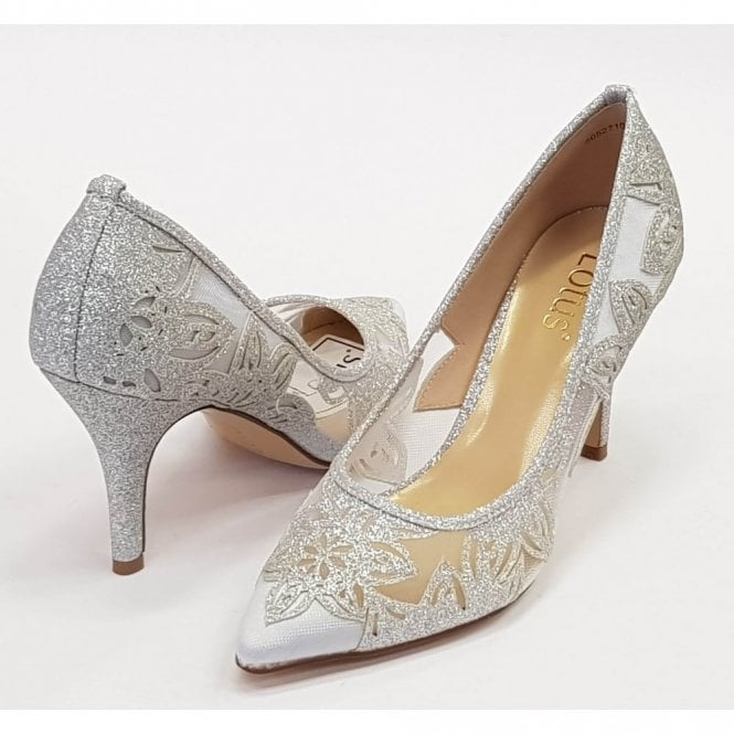 Groove Silver Dress Court Shoes