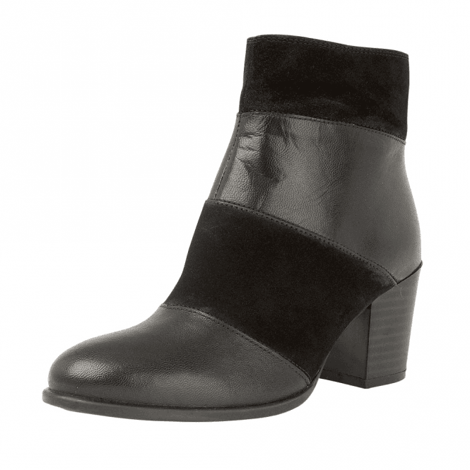 046a0330c8e Mantura Leather   Suede Heeled Ladies Ankle Boots