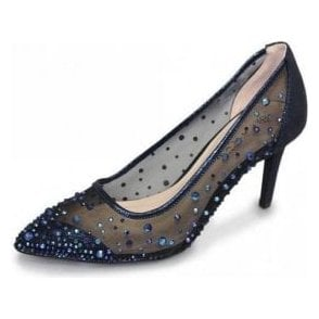 d62cf061ee2 Lunar FLV239 Grey Silver Satin Shoe with Diamante - Ladies from ...