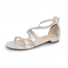 0654c79ff90 Belle JLH976 Silver Sandal with Jewel Trim