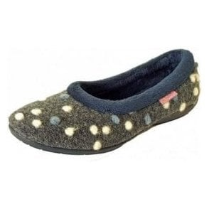 fa77c1bf9 Butterfly Cake 2 Blue or Purple Fabric Slipper
