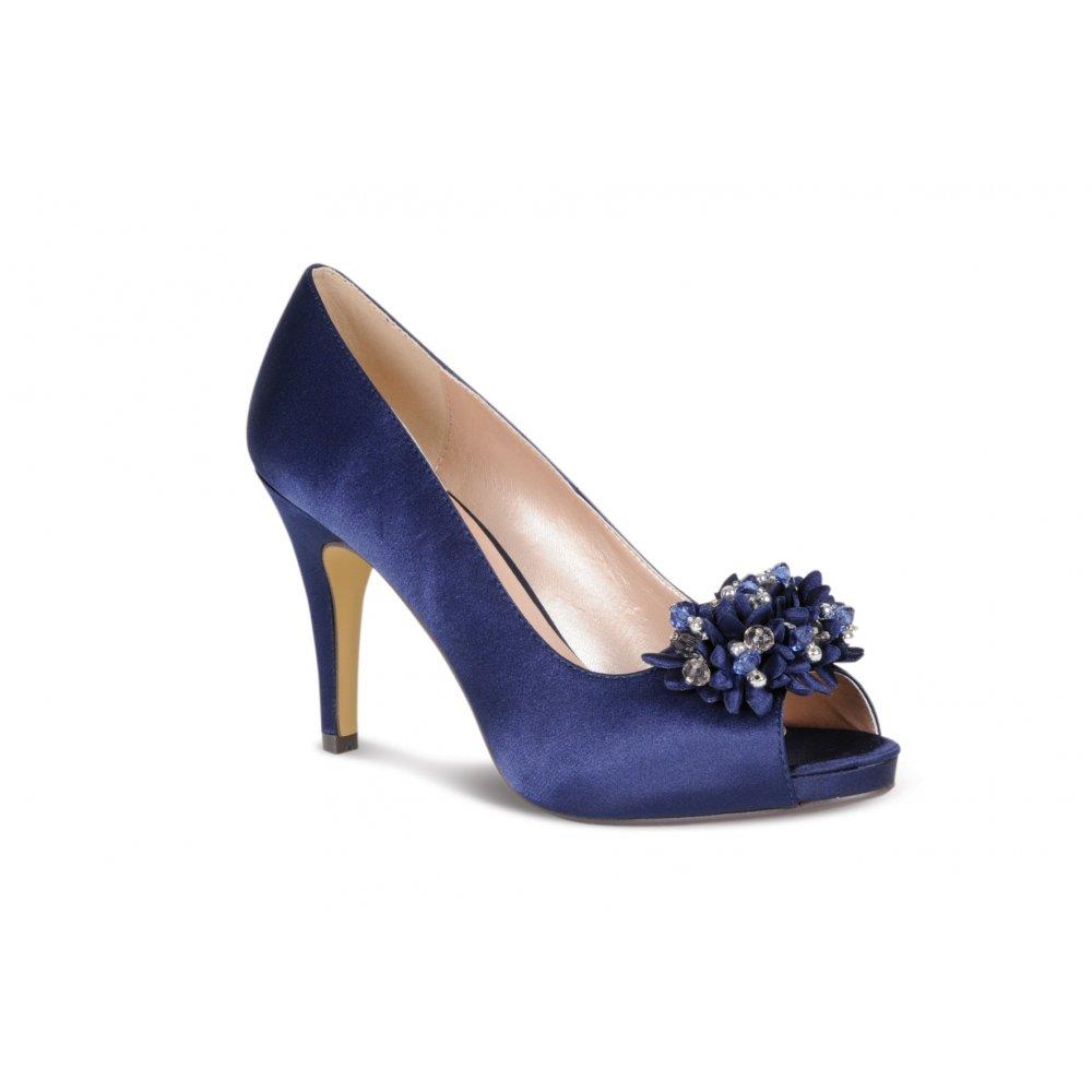 Lunar FLR117 Navy Blue Satin Shoe with