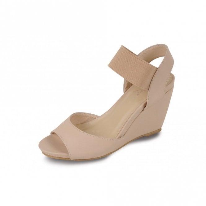 beige wedges open toe