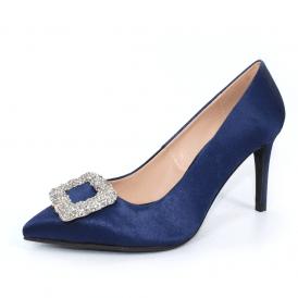 ba4f77e0d Lilac FLR515 Navy Peep Toe Ladies Shoe