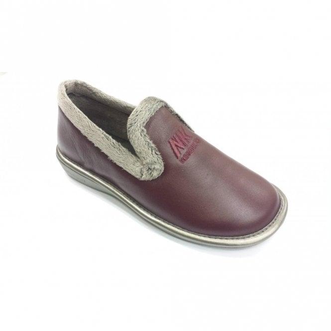 5339801f49e4e 305 Ohio Burgundy Leather Ladies Slipper
