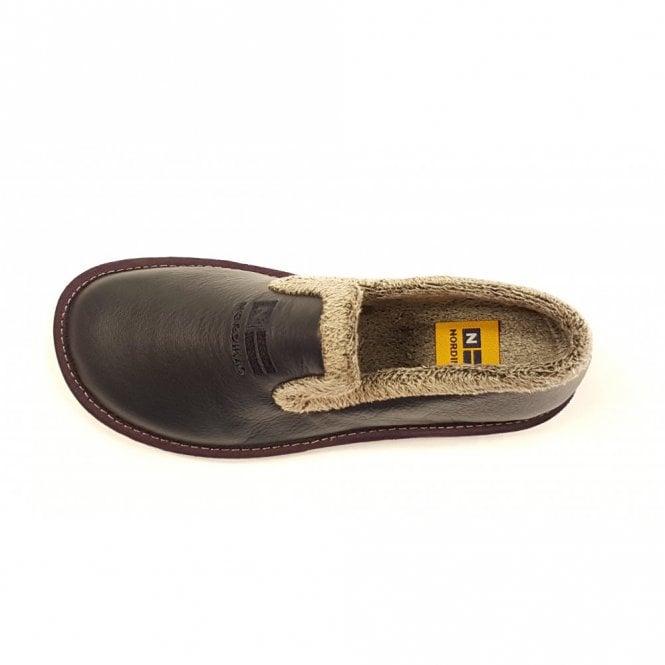 8775d304d9624 305 Ohio Navy Leather Ladies Slipper