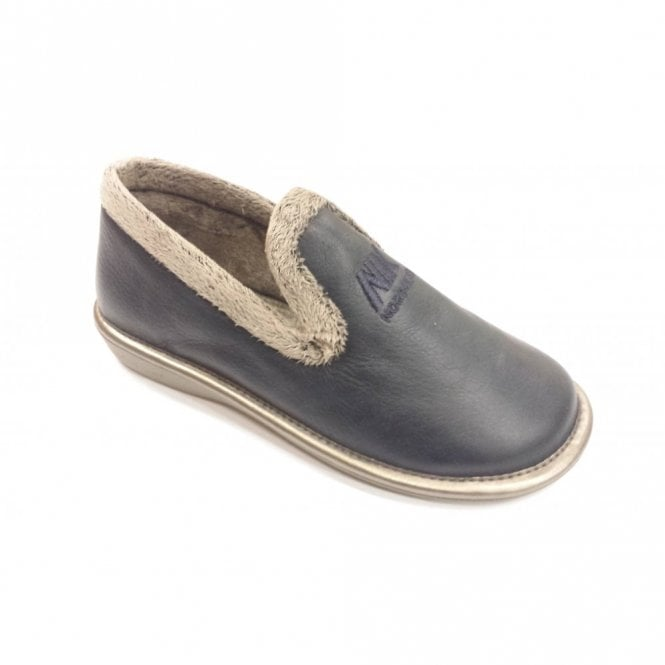 3cb29b8a5f5ea 305 Ohio Navy Leather Ladies Slipper