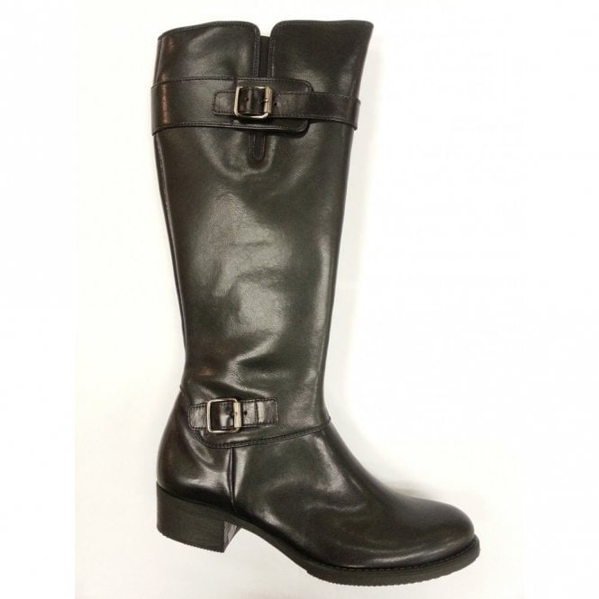 f440e3a4b25 Paul Green 7385-717 Black Leather Boot