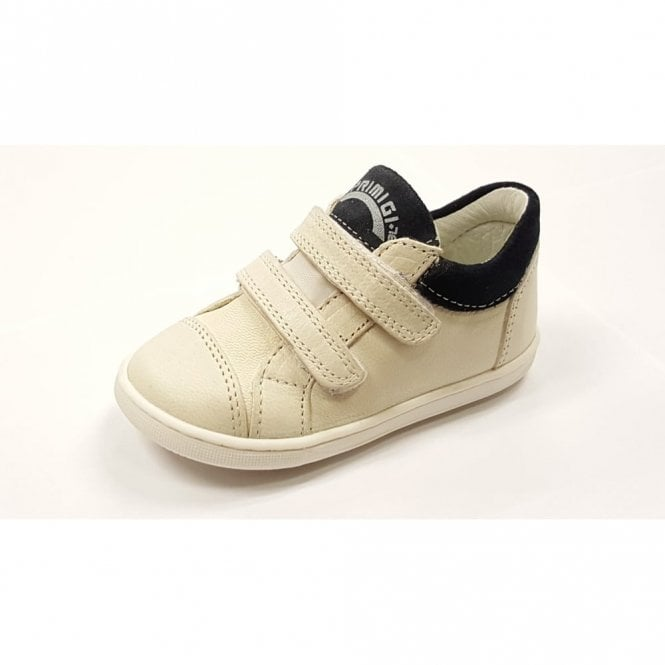 6d0a77b23610 PBX 7029 Off White Leather Boy s Velcro Shoe