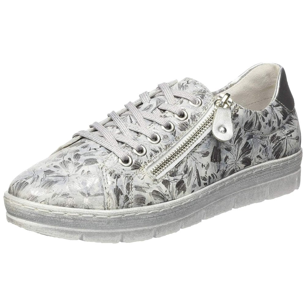 D5800-42 Grey / Silver Metallic Floral