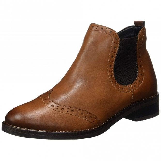 design de qualité ca68a 52ac7 D8581-25 Brown Leather Brogue Ankle Boot