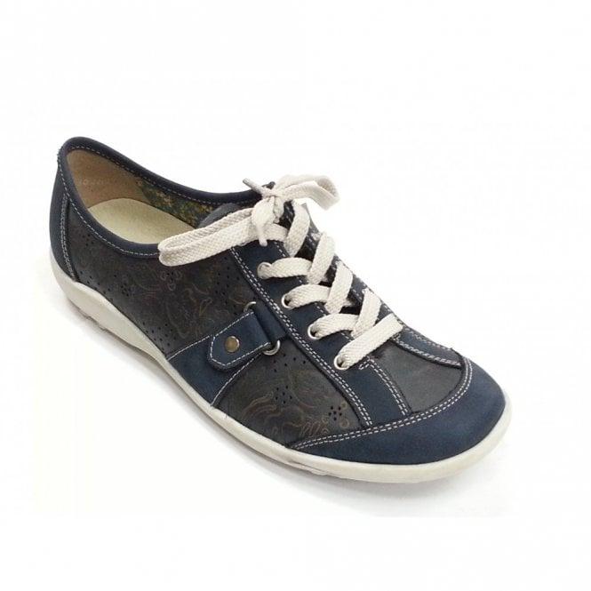 4997b6a898ef0 Liv R1719-13 Navy Leather Lace Up Shoe