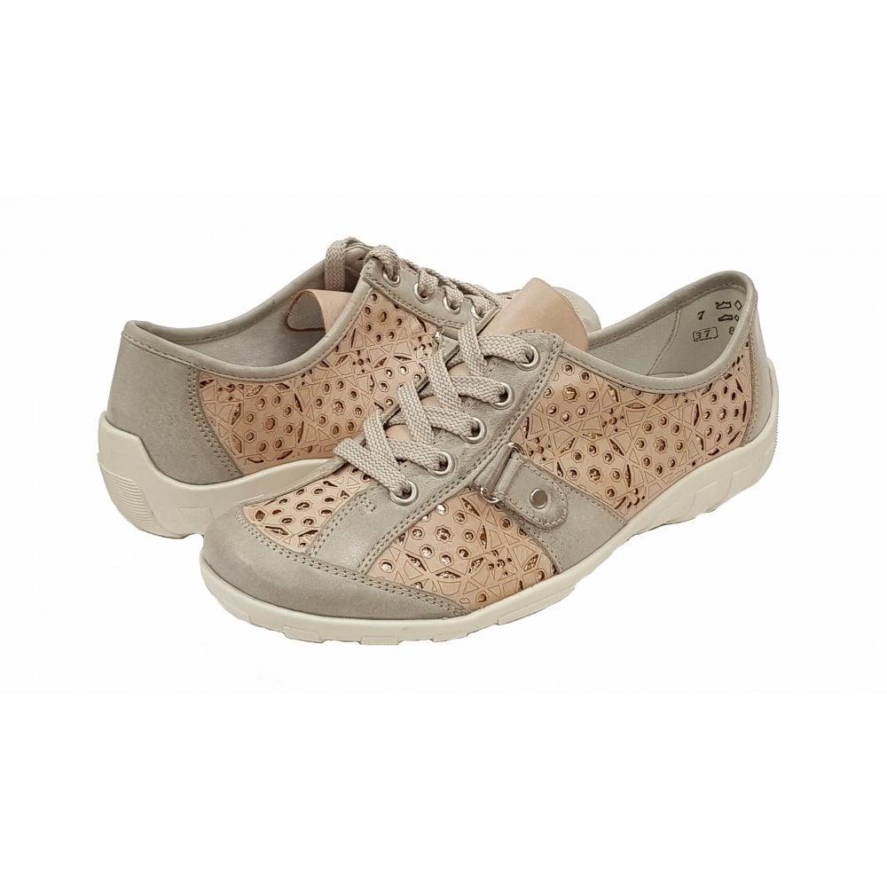bas prix 99a78 b5003 R3430-31 Rosa Pink / Ice Grey Lace Up Shoe