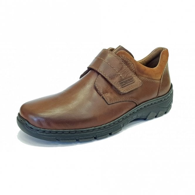 bf176751 19962-25 Brown Leather Mens Velcro Shoe