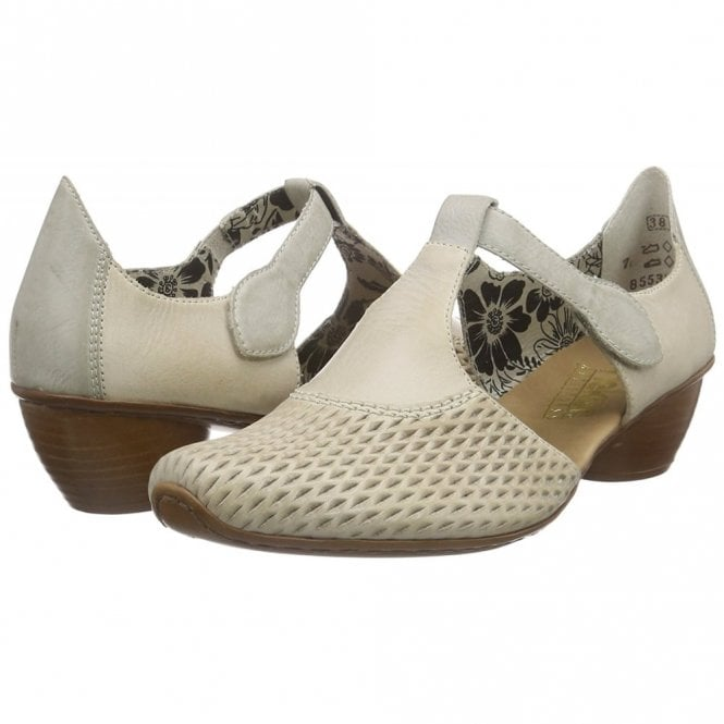 cd1df3c2fd84 43736-40 Grey Leather Velcro Shoe