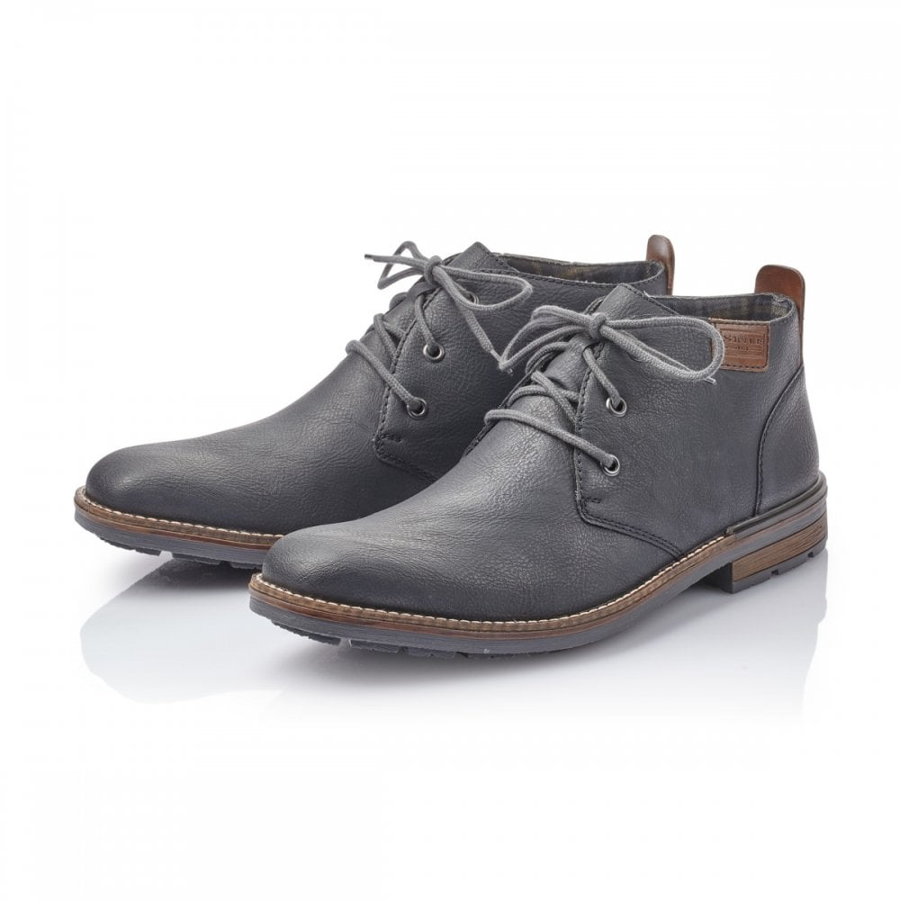 B1340 14 Navy Leather Mens Boot