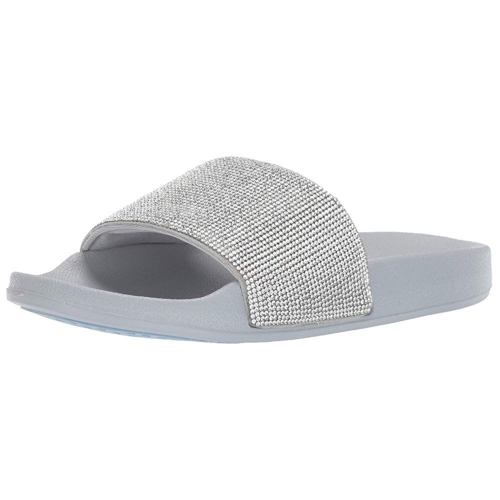 Skechers Cali Pop Ups Stone Age Silver Ladies Sandals