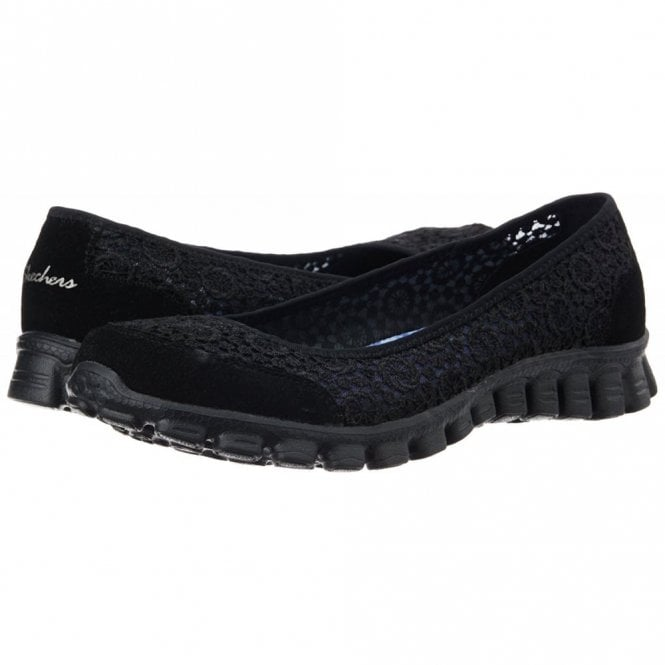 skechers black ez flex 3.0 beautify trainers