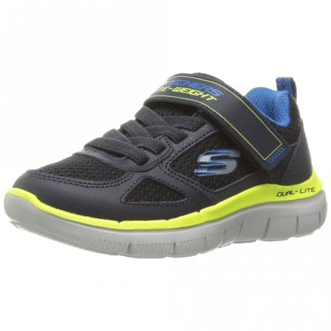 67646dd8e49b Flex Advantage 2.0 - Power Shot Navy   Lime Boys Trainer