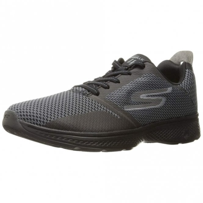 4fa5871bf1f7 GO Walk 4 - Elect Grey   Black Mens Trainer Shoe