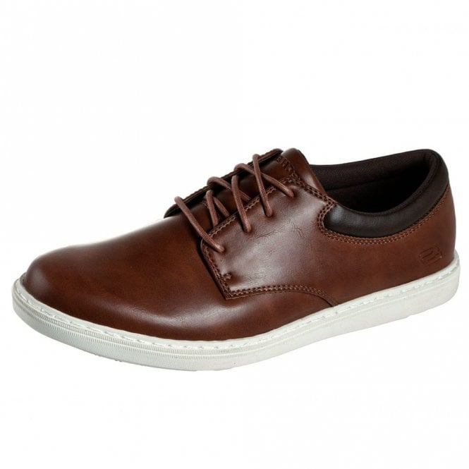 mens brown skechers