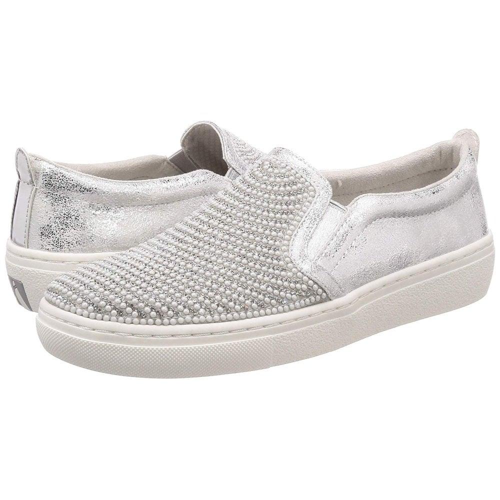 Shiny Street Shaker Silver Shoe Ladies Goldie qcRLA354j