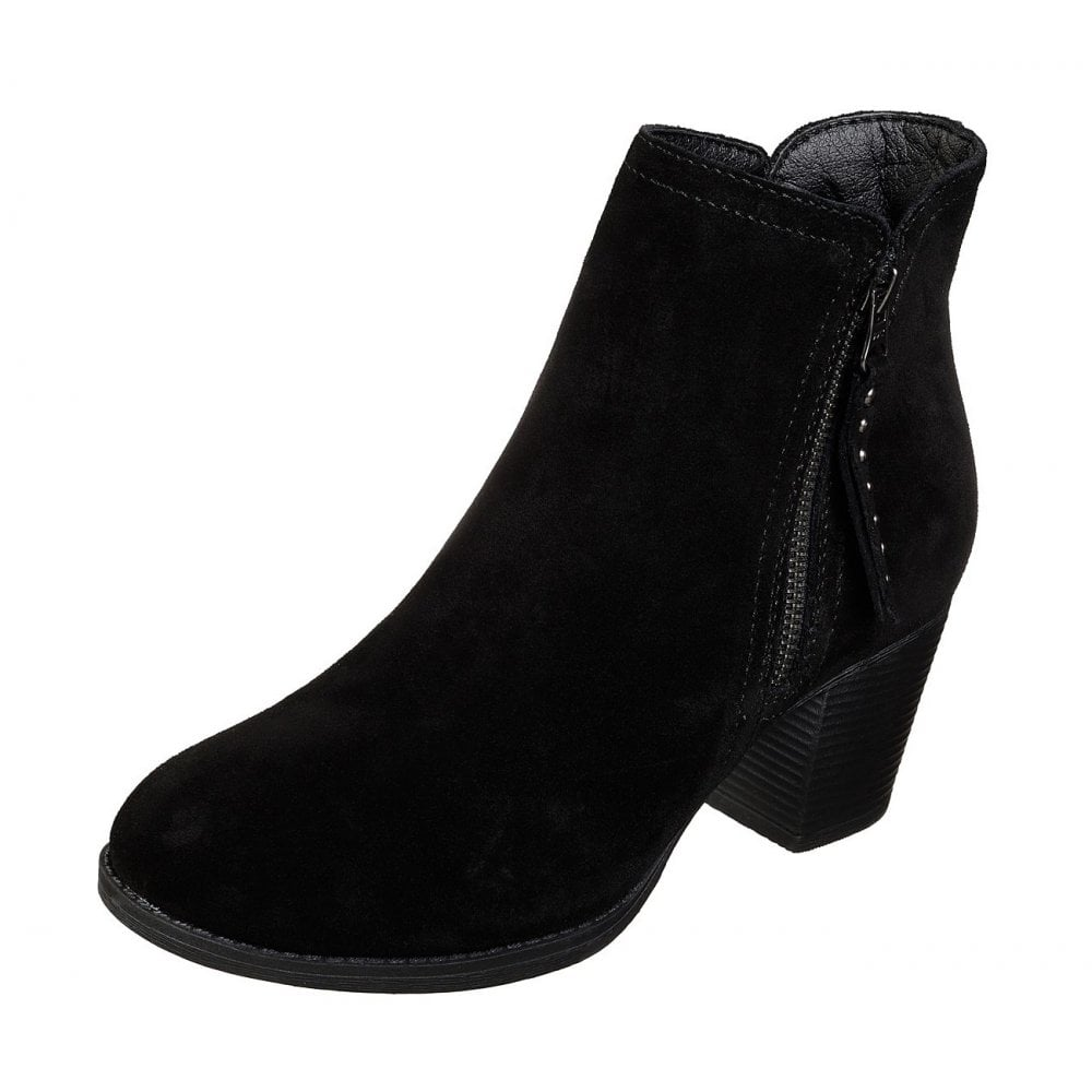 campana Pickering Suponer  Taxi - Don't Trip Black Suede Ladies Ankle Boot