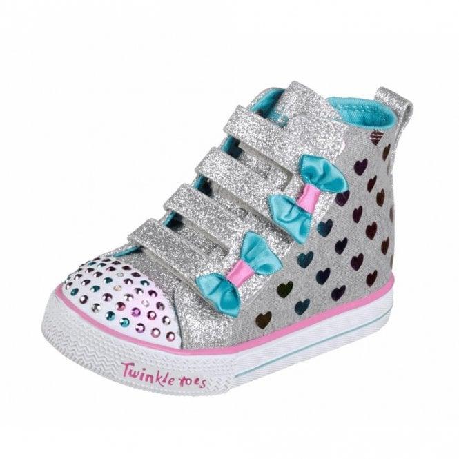 Skechers Twinkle Toes: Shuffle Lite Fancy Flutters Boot