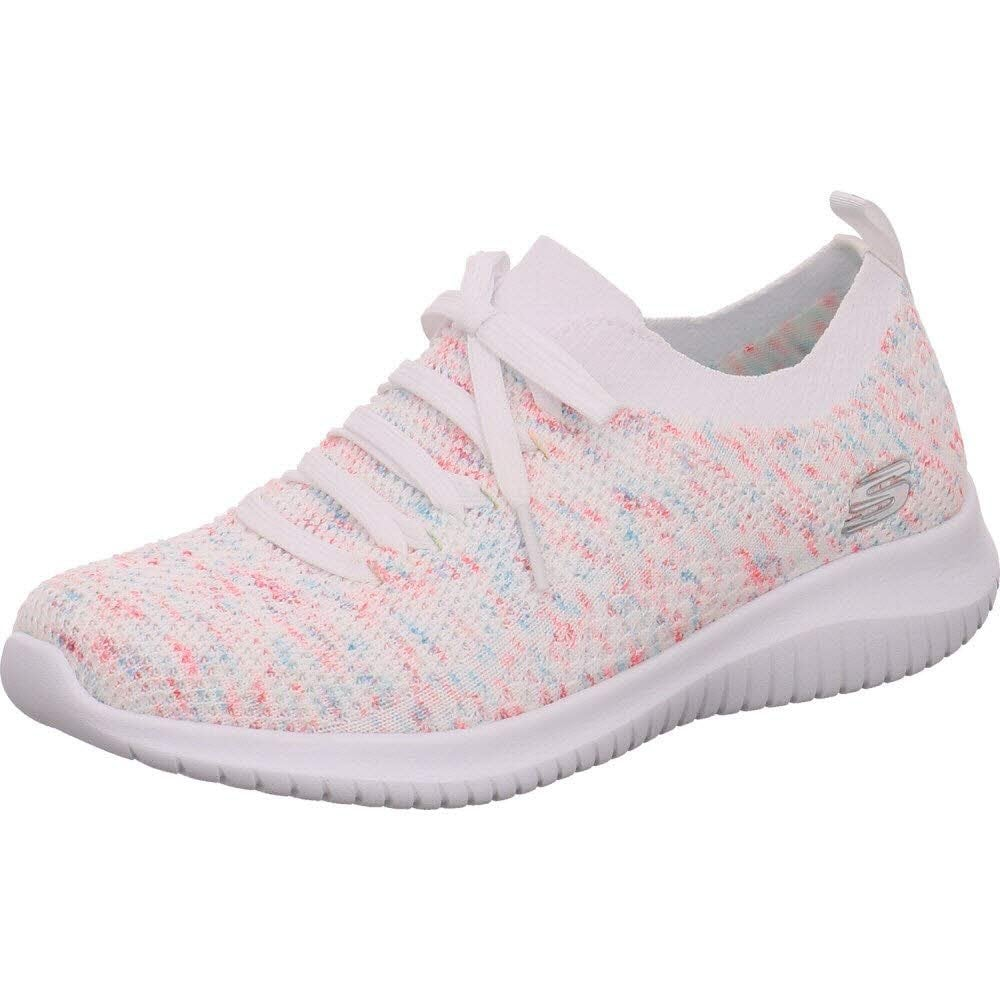 22263e4fa Ultra Flex - Happy Days Mesh Fabric White / Pink Trainer