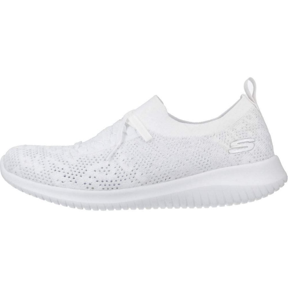 white mesh skechers